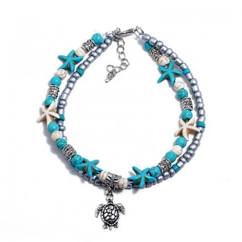 Ankle Bracelet Silver Sea...