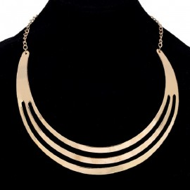 GOLD Choker Necklace Metal...