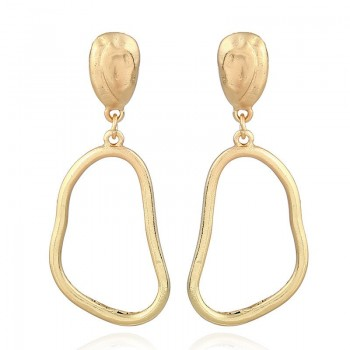 Drop Hoop Earrings Gold...