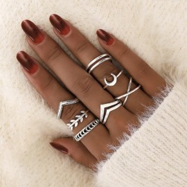 New Boho Ring Set Women...