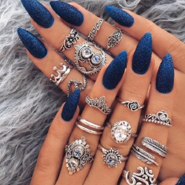 Ring Set Boho Rings Gold...
