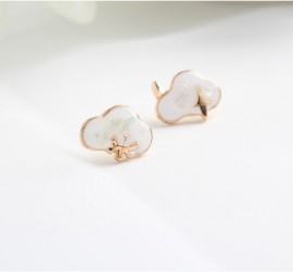 Enamel Stud Earrings 925...