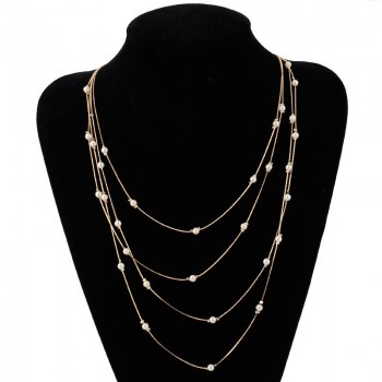 Women  Necklace Multi Layer...