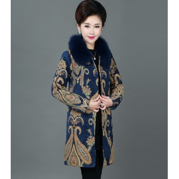Womens Fur Winter Peacoat Coat