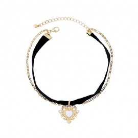 Choker Necklace Set Black...