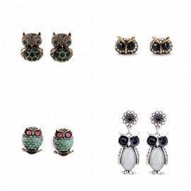Owl Stud Earrings Cute...